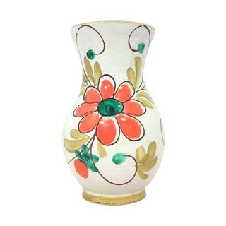 Italian Ceramic Art Pottery Floral Vase