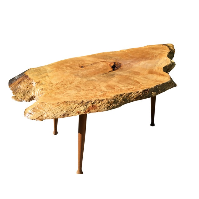 Maple Live Edge Cocktail Table - Image 3 of 6