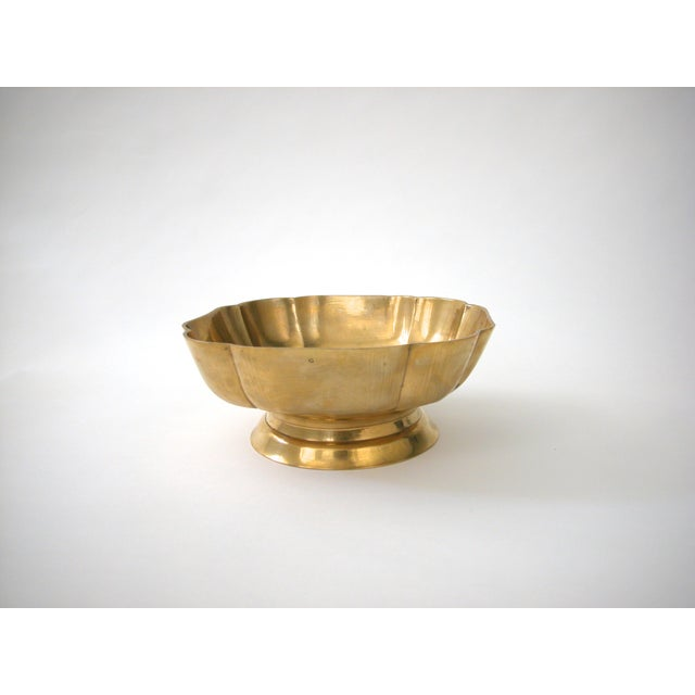 Brass Scallop Pedestal Bowl - Image 6 of 8