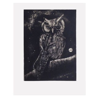 Art Print - Spotted Owl & Moon by Sylvia Roth