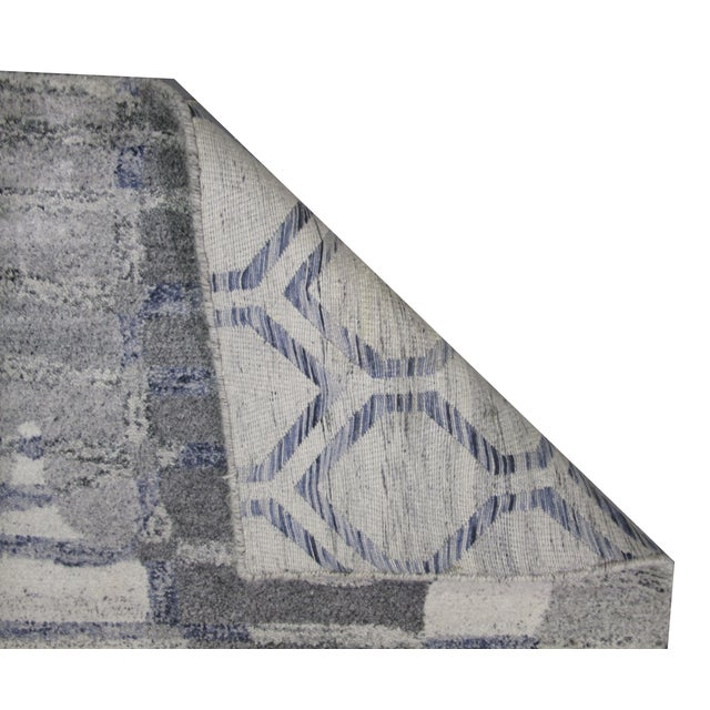 Indian Tufted Rug - 5′ × 7′8″ - Image 3 of 5