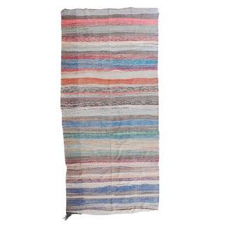 Boucherouite Moroccan Berber Flat-Weave Rug