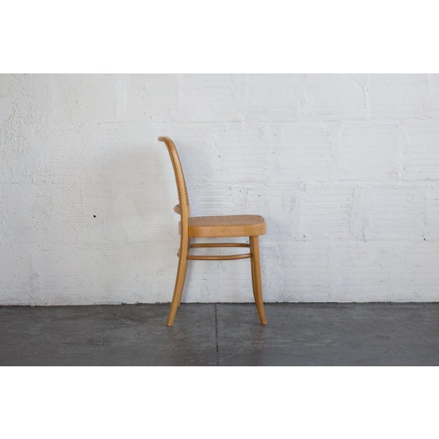 Prauge Cane Bentwood Woven Side Chairs - Set of 4 - Image 7 of 11