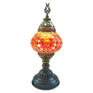 Orange Mosaic Table Lamp