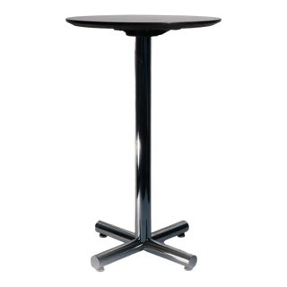 Chrome & Black Side Table