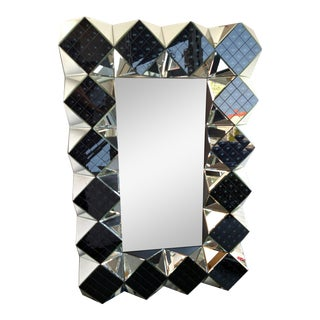 3-D Smoke Glass Floor Mirror
