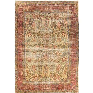 Apadana Antique Persian Kerman Rug - 7' x 9'11""