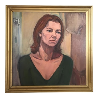 Mid-Century Style Portrait of a Woman