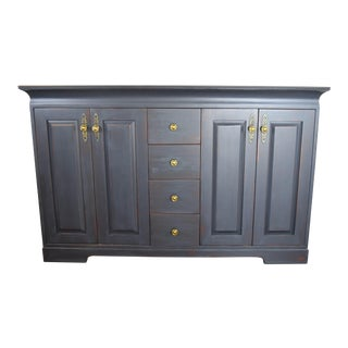 Graphite Chalk Painted Sideboard