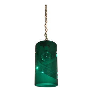 Emerald Green Murano Glass Lighting Pendant