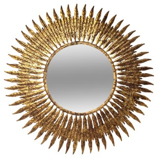 Gold Foil Feather Mirror