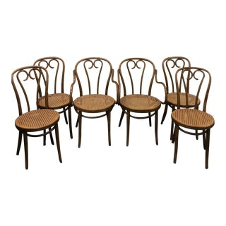 Thonet Bentwood Bistro Cafe Chairs - Set of 6