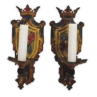 Crest Wall Sconces - Pair