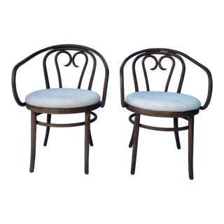 Vintage Bentwood Armchairs - a Pair