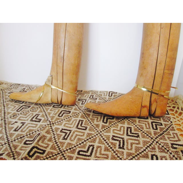 Image of Antique English Wood Boot Forms - Pair