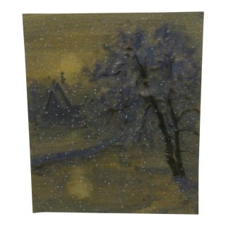 "R. Hopisu ""Flurries"" Original Painting on Paper"