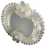 Image of Italian Murano Glass Venetian Mirrors - A Pair