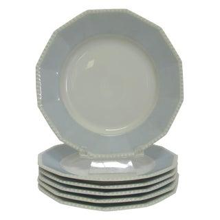Vintage Nymphenburg Blue Dessert Plates - 6
