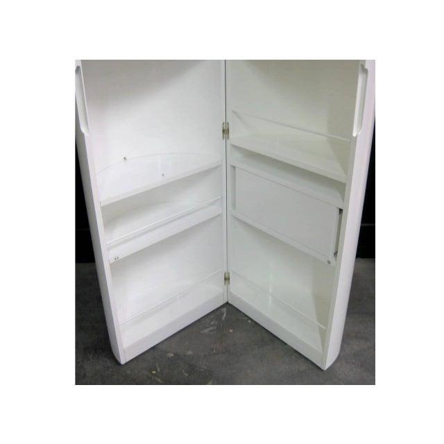 White Lacquer Cylindrical Folding Bar - Image 7 of 10