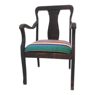 Antique Mexican Saltillo Serape Chair