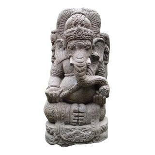 Green Stone Carved Ganesha