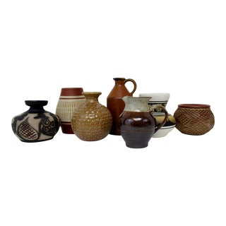 Collection of Ceramic Vases, Set of 7