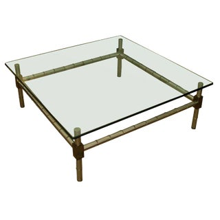 Oversized Faux Bamboo Coffee Table