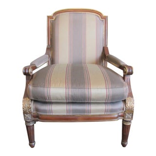 Century Furniture Striped Large Arm Chair