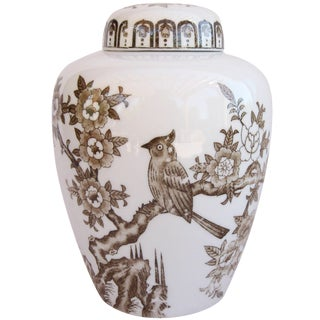Brown & Ivory Ginger Jar