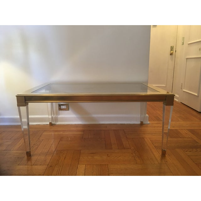 Modern History Coffee Table W Clear Lucite Legs Chairish
