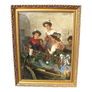 Friedrich Anton Otto Prolss German Genre Painting