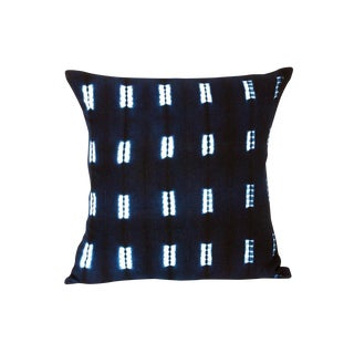 Indigo Blue Mud Cloth Pillow Covers - a Pair