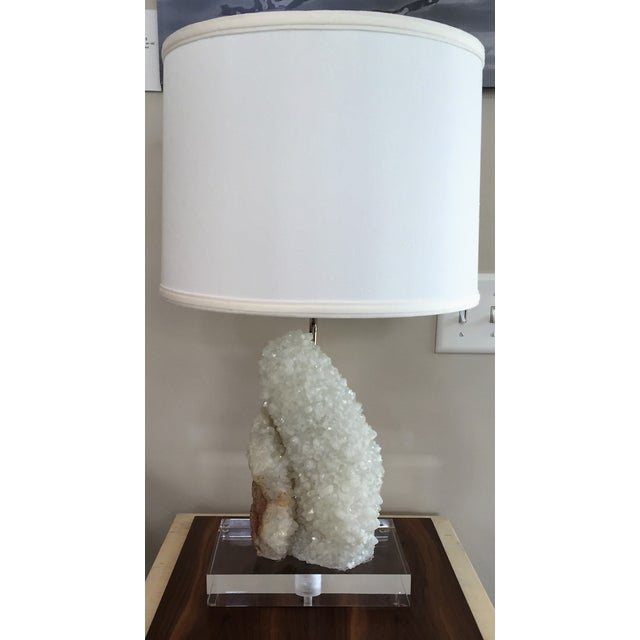 Quartz Table Lamp With Lucite Base - Image 2 of 5
