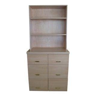 Maple Cabinet & Hutch