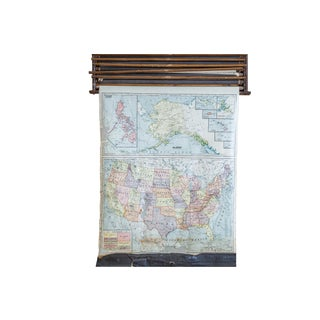 Crams Vintage 1938 United States Pulldown Map
