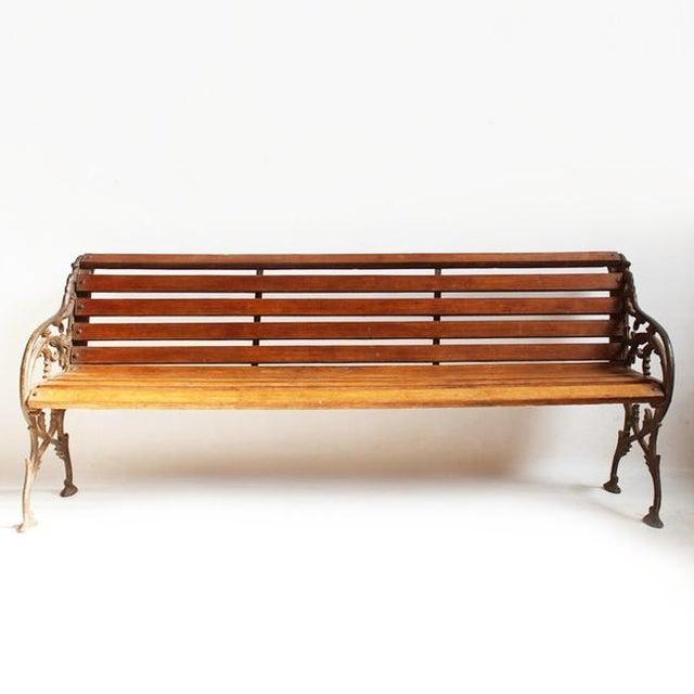 Cast Iron Amp Teak Park Bench Chairish