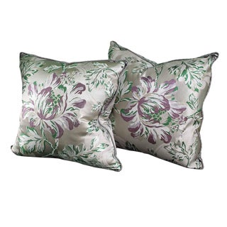 Floral Design Pillows - A Pair