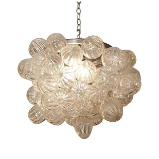 Clear Hand Blown Bubble Glass Pendant Light