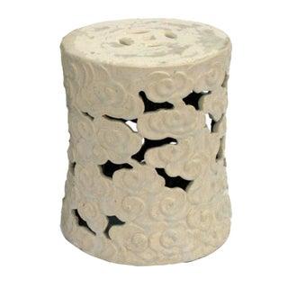 Cloud Ceramic Garden Stool - Large