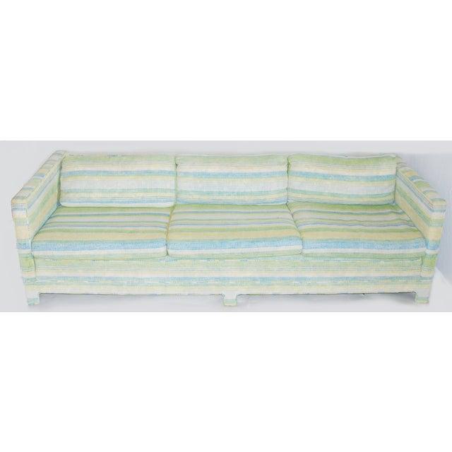 Vintage Erwin-Lambeth Three-Seat Green & Aqua Sofa - Image 4 of 10