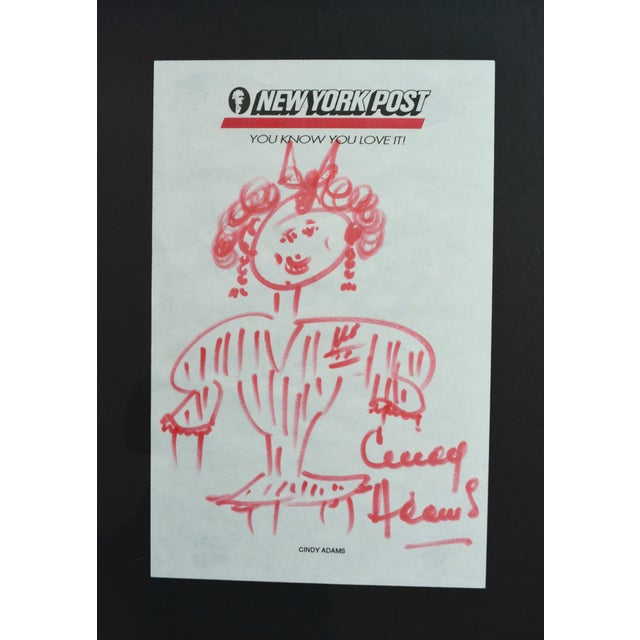 Cindy Adams Sketch, New York Times, Signed - Image 3 of 3
