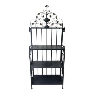Wrought Iron Plant Shelf