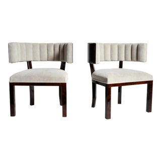 Pair of Horseshoe Back Chairs
