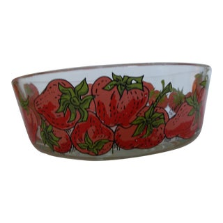 Vintage Elaine Glass Strawberry Bowl