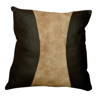 Gambrell Renard Leather and Cowhide Pillow
