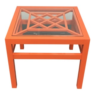 New Oomph Knockout Orange Southport Side Table
