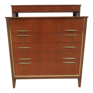 Mid Century Chest of Drawers or Tallboy Dresser