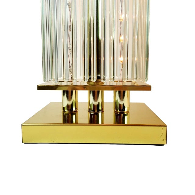 Image of Sciolari-Style Glass Rod Table Lamps - A Pair