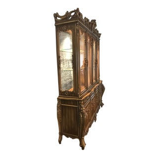 French Provincial Break Front Cabinet