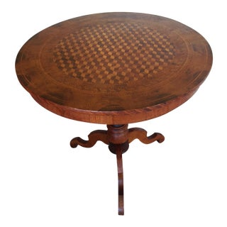 Intricately Detailed Parquet Antique Round Table